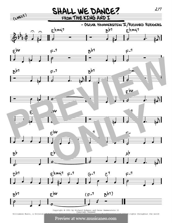 Shall We Dance? (from The King and I): For guitar by Richard Rodgers