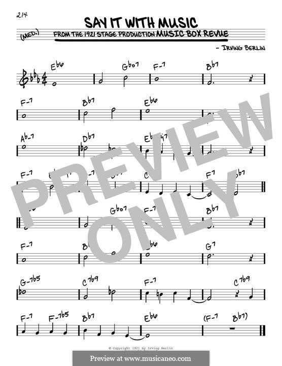 Say It with Music: For guitar by Irving Berlin