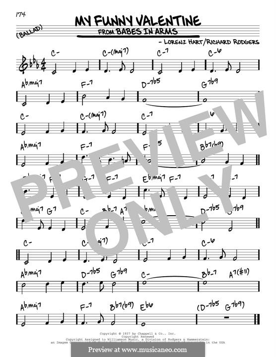 My Funny Valentine: For guitar by Richard Rodgers