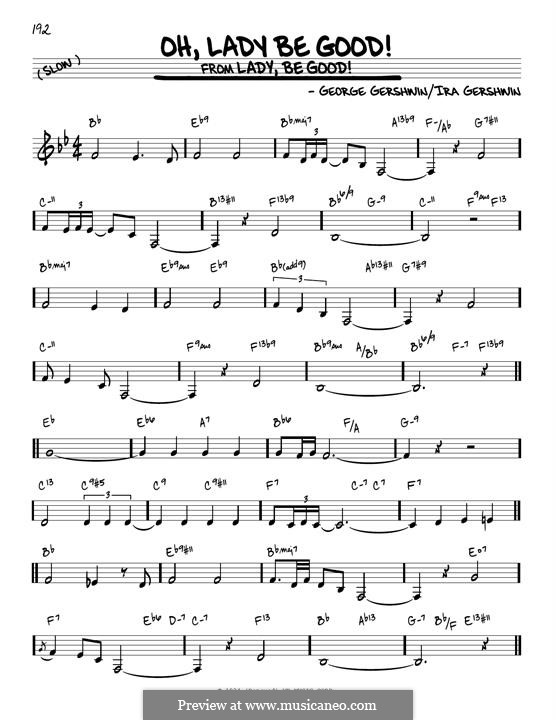 Oh, Lady, Be Good: For guitar by George Gershwin