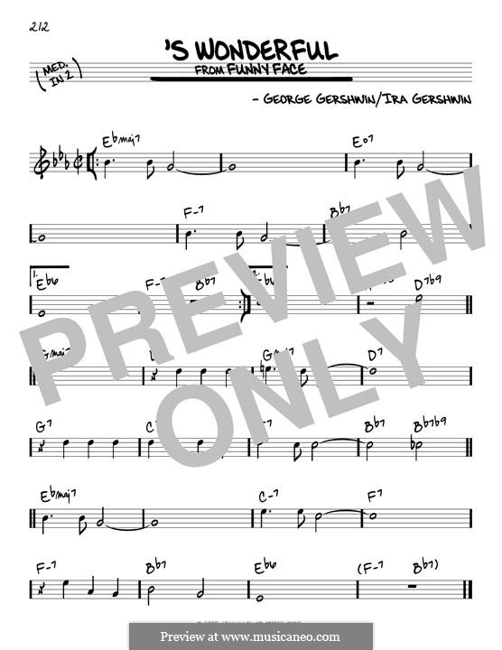 'S Wonderful: For guitar by George Gershwin