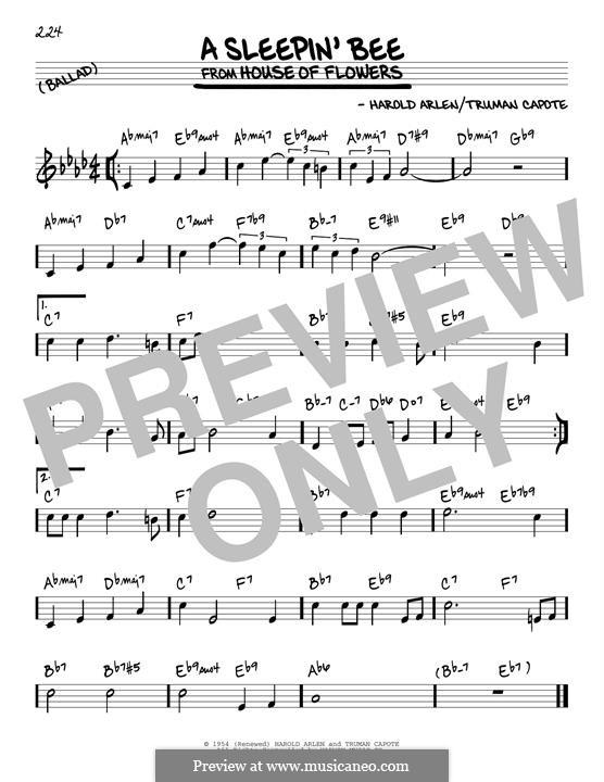 A Sleepin' Bee: For guitar by Harold Arlen