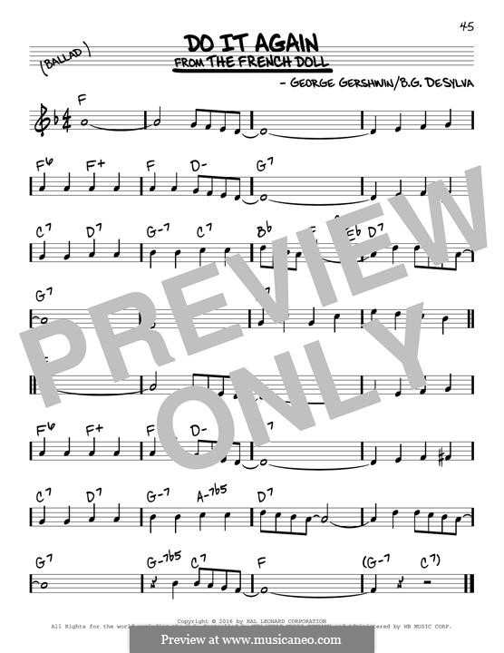 Do it Again: For guitar by George Gershwin