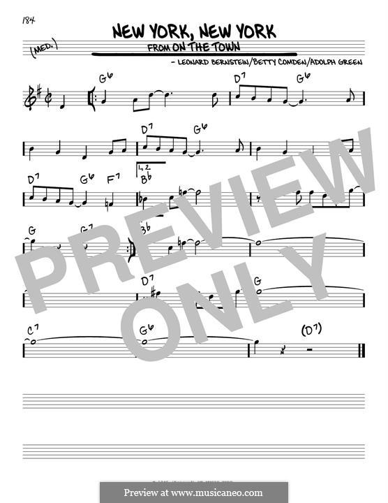 New York, New York (Frank Sinatra): For guitar by Leonard Bernstein
