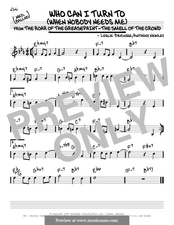 Who Can I Turn To?: For guitar by Anthony Newley, Leslie Bricusse