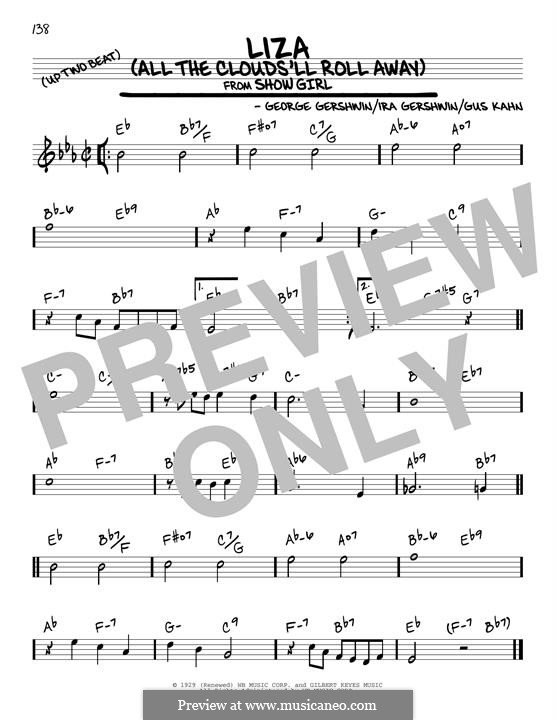 Liza (All the Clouds'll Roll Away): For guitar by George Gershwin