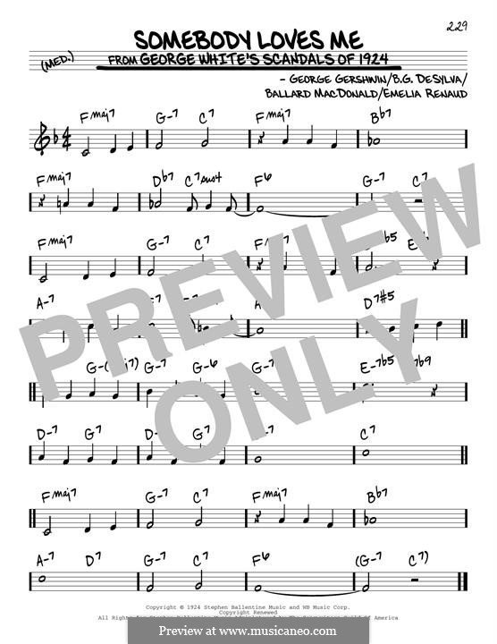 Somebody Loves Me: For guitar by George Gershwin