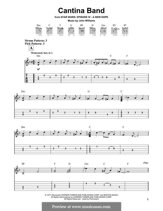 Cantina Band: For guitar by John Williams
