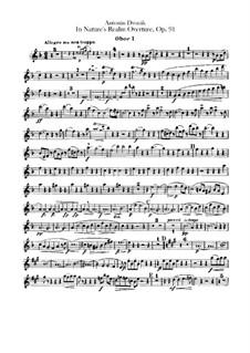 V přírodě (In Nature's Realm), B.168 Op.91: Oboes and cor anglais parts by Antonín Dvořák