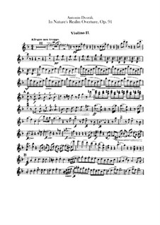 V přírodě (In Nature's Realm), B.168 Op.91: Violin II part by Antonín Dvořák