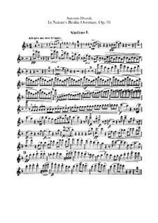 V přírodě (In Nature's Realm), B.168 Op.91: Violin I part by Antonín Dvořák
