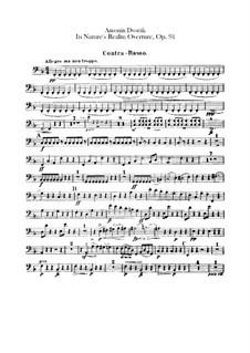 V přírodě (In Nature's Realm), B.168 Op.91: Double bass part by Antonín Dvořák