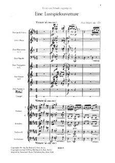 Eine Lustspielovertüre, Op.120: Eine Lustspielovertüre by Max Reger