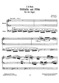 Toccata in D Minor, BWV 913: For organ by Johann Sebastian Bach