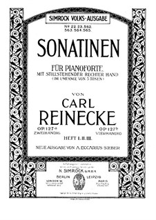 Sonatinas for Piano Four Hands, Op.127b: Sonatina No.1 by Carl Reinecke