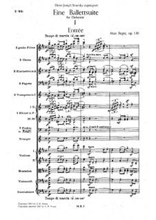 Ballet Suite in D Major, Op.130: Full score by Max Reger