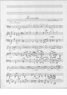 Romance for Cello and Piano, Op.75: Romance for Cello and Piano by Louis Glass