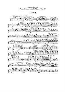 Concerto for Piano and Orchestra in G Minor, B.63 Op.33: Flutes parts by Antonín Dvořák