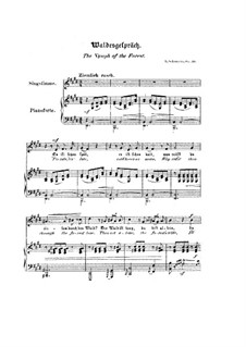 No.3 Waldesgespräch (In the Forest): Piano-vocal score (English and german texts) by Robert Schumann