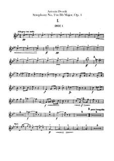 Symphony No.2 in B Flat Major, B.12 Op.4: Oboes parts by Antonín Dvořák