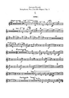 Symphony No.2 in B Flat Major, B.12 Op.4: Trumpets parts by Antonín Dvořák