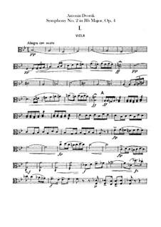 Symphony No.2 in B Flat Major, B.12 Op.4: Viola parts by Antonín Dvořák