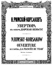 The Tsar's Bride: Overture by Nikolai Rimsky-Korsakov