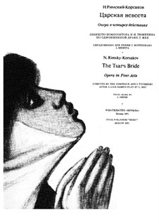 The Tsar's Bride: Piano-vocal score by Nikolai Rimsky-Korsakov