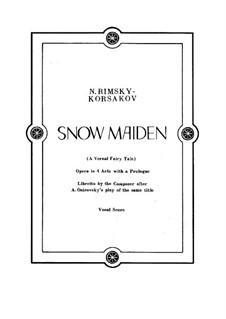 The Snow Maiden: Piano-vocal score by Nikolai Rimsky-Korsakov