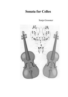 Sonata: For two cellos by Sonja Grossner