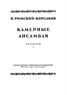 Piano Quintet in B Flat Major: Full score by Nikolai Rimsky-Korsakov
