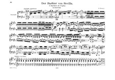 Il Barbiere di Siviglia (The Barber of Seville): Overture, for piano four hands by Gioacchino Rossini