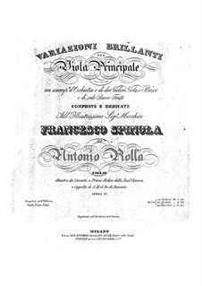 Brilliant Variations for Viola and Orchestra, Op.13: Parts by Antonio Rolla