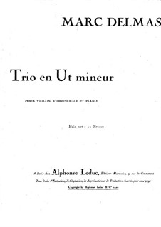 Piano Trio in C Minor: Full score by Marc Delmas