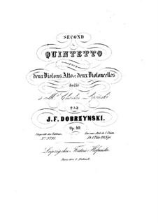 String Quintet No.2 in A Minor, Op.40: Violin I part by Ignacy Feliks Dobrzyński