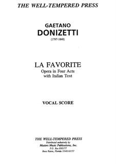 La favorita: Piano-vocal score by Gaetano Donizetti