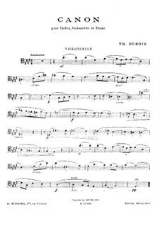 Canon for Piano Trio: Cello part by Théodore Dubois