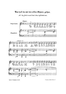 Woman's Love and Life, Op.42: No.8 Ah! Thy First Wound Hast Thou Inflicted Now by Robert Schumann