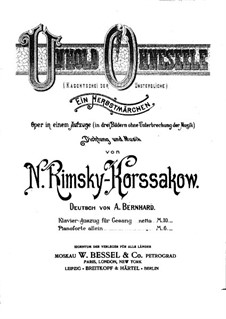 Kashchey the Deathless: Piano-vocal score by Nikolai Rimsky-Korsakov
