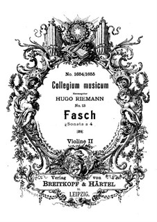 Sonata a 4 in D Minor, Fwv N:d3: Violin II part by Johann Friedrich Fasch