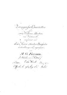 Two String Quartets, Op.1: Violin I part by Michael Gotthard Fischer