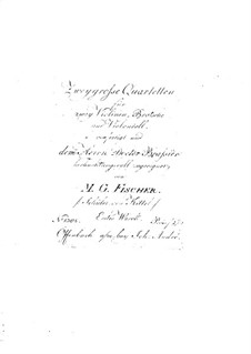 Two String Quartets, Op.1: Violin II part by Michael Gotthard Fischer