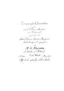 Two String Quartets, Op.1: Viola part by Michael Gotthard Fischer