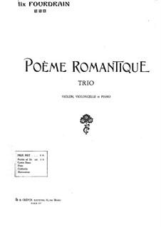 Romantic Poem: Cello part by Félix Fourdrain