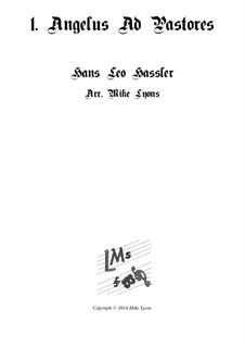 Cantiones Sacrae: No.01 Angelus ad Pastores, for brass quartet by Hans Leo Hassler