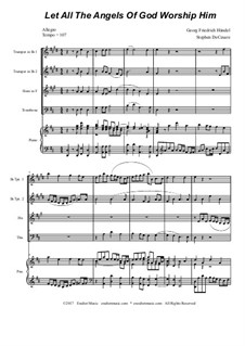 No.35 Let All the Angels Of God: For brass quartet by Georg Friedrich Händel