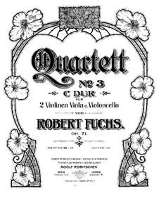 String Quartet No.3 in C Major, Op.71: Violin I part by Robert Fuchs