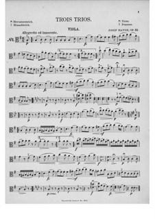 Three String Trios, Hob.XVI/40-42 Op.53: Viola part by Joseph Haydn