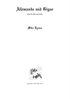 Allemande and Gigue – Duet: Allemande and Gigue – Duet by Mike Lyons