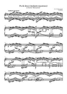 No.5 Pas de deux: For piano by Pyotr Tchaikovsky